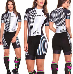 2020 Pro Team Triathlon Suit Women's short sleeve Cycling Jersey Skinsuit Jumpsuit Maillot Cycling Ropa ciclismo set gel 012