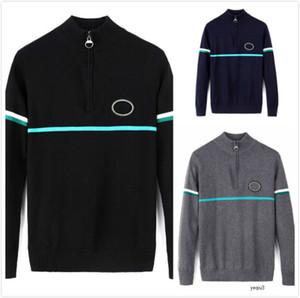 Mens Designer Suéter Cocodrilo Hombre Suéteres Jersey Lujo Espesor Cálido Cremallera Classic Brand CM2 High Qualityjnktvy2R