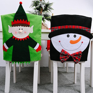 Christmas Tree Syle Chair Covers Snowman Santa Chair Hat Decor Xmas Dinner Chairs Back Hat Cap House Home Party Decor
