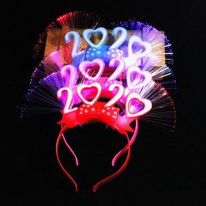 2021 Flash fibra hairband di Natale e Capodanno regalo puntelli Glow hairband Annual Stage Bar Meeting Card Rilascio