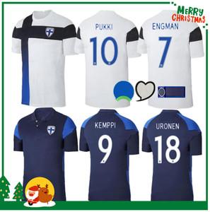 2020 Uniformi Finlandia maglie calcio Nuova Pukki SKRABB Raitala JENSEN LOD casa del calcio bianco Camicia a maniche corte per adulti