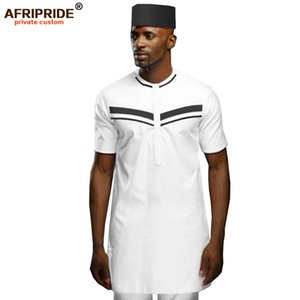 African Men Clothing Set Tribal Outfit Dashiki Shirts Ankara Pants Traditional Hat 3 Piece Outwear AFRIPRIDE A1916069 1004