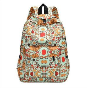 Women 3D Flowers Print Shoulder Schoolbag for Girls Casual Travel Backpacks Female Canvas Large Capacity Laptop Back Women Bags