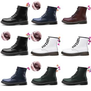 Facondinll de alta calidad de la rodilla de alta calidad Botas altas de patente de cuero para mujer Botas negras Cómodo Lady Army Largo Winter Warm # 8113222