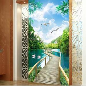 3D Wallpapers Natural Trees Landscape Flowers Wallpapers para Paredes papéis de parede 3D para sala Home Decor Murais Corredor