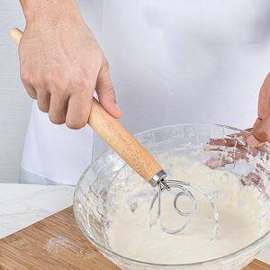 Dough Whisk Mixer Blender Bread Flour Egg Beater Stainless Steel Dutch Style Danish Cake Dessert Mixer Blender Admixer Kitchen Tools NWC4247