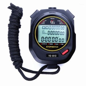 Handheld Running Athletics Digital Display Counter Accurate 10 Channels Timer Stopwatch Alarm Waterproof Portable 3 Rows Sport1