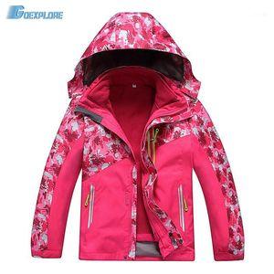 Outdoor Jacket Girls Boys 120-150 New Skiing Waterproof Windbreaker Kids Outdoor Sports Clothing snowboard jacket children1
