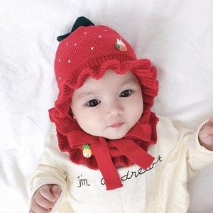 Baby Winter Hat Knitting Cotton Hat Scarf Newborn Baby Girl Boy Newborn Photography Props Kids Infant Cap