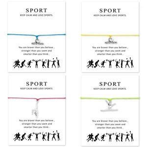 I Heart Gymnastics Браслеты Регулируемые для женщин Мужские девушки подарок с картой1
