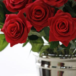 Artificial flower Silk Craft Bouquet Decor Home Wedding Party Garden Supplies Blossom Wall Art Rose Background Bouquet Sencery Festival