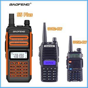 Walkie Talkie Baofeng S5 CB 라디오 트랜시버 5-25 킬로미터 장거리 휴대용 Plus UV5R-8W UV82-8W 고용량