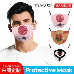 Patrón de impresión Paño de máscara digital Halloween 3D SOXNO