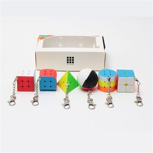 ZCUBE BUNDLE 6PCS / SET PACK PACK MINI MAGIC CUBE 2x2x2 3x3x3 Magic Ball Cylindre Keychain Jouets éducatifs pour enfants 201224