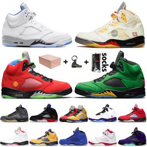 retro 5 5s off white JUMPMAN 5 5s 2021 Yelken Alternatif Üzüm Siyah Muslin Beyaz Basketbol Ayakkabıları SE Oregon Kapalı Erkekler NE Retro Eğitmenler Spor Sneakers