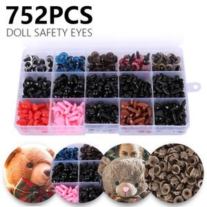 752pcs Colorful Plastic Crafts Safety Eyes For Teddy Bear Soft Plush Toy Animal Doll Amigurumi DIY Accessories 201203