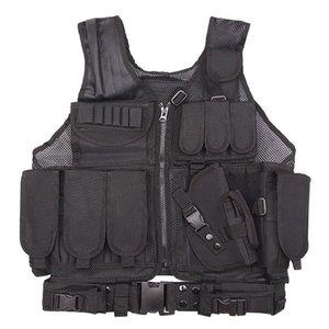 Охотничьи куртки Фабрика оптом боевой жилет армия камуфляж реальный CS дикий дышащий тренировочный оборудованный оборудование тактическая сеть рубашка черная