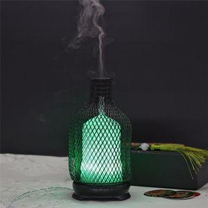 Стальной ультразвуковой воздушный увлажнитель красочный ночной свет 120 мл емкости эфирное масло аромат диффузор воды спрей бутылка для распыления моря DHE3824