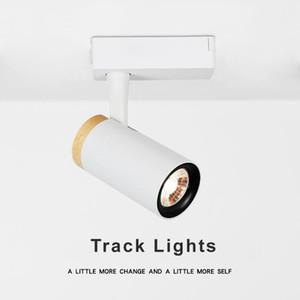 Livraison gratuite 5W 10W lampe détail spot focus Éclairage surface linéaire magnétique montée Spotlights rail COB Rail d'éclairage LED