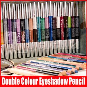 새로운 47 색 얼굴 메이크업 펜 더블 컬러 아이 섀도우 아이 라이너 형광펜 연필이 한 아이 섀도우 메이크업