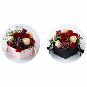 День Святого Валентина Hex флип цветок Подарочная коробка для рождения, Невесты, Свадебный X4YD hDOV #