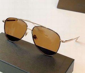 Herren Qualität Braun Männer in Sonnenbrillen 59mm Sonnenbrille Gold Sonnenbrille Outdoor Top Pilot 0078 Neue Sonnenbrille Box FWDJN