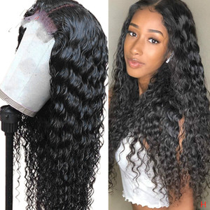 Brazilian Water Wave Lace Wig With Baby Hair Arabella PrePlucked For Women Remy Human Hair Wigs 4X4 Lace Closure Wig
