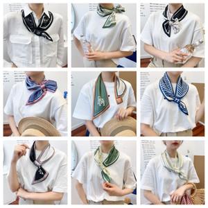 Fashion Simulation Silk Scarves Designer New Silk Scarves Ladies Sharp-Angled Streamers Sunscreen Narrow Long Gauze Scarf