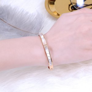 New Fashion Couple Bracelet Forever Love You Bracelets Bangles Titanium Steel Shell Jewelry Bracelet For Lover