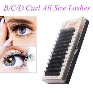 Individual Eyelash Extension All Size Cilia, B C CC D Curl, All Size 3D Volume False Eye Mink Lashes, Faux Eyelash Extension