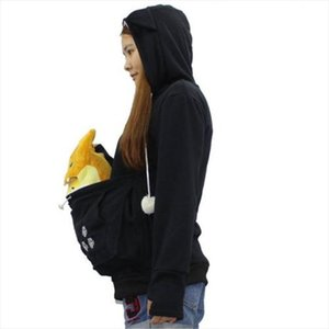 2020 new fashion long sleeve casual hooded Unisex Kangaroo Pet Dog Cat Holder Carrier Coat Pouch Large Pocket Hoodie Top