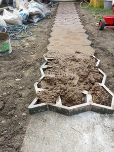 DIY Stone Pavement mold for making pathways for your garden Concrete garden molds