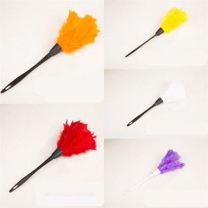 Home Feathers Dusters Dust Removal Hang Duster Plastic Handle Cleaning Tools Car Orange Small Handholds Table 1 8xq L2