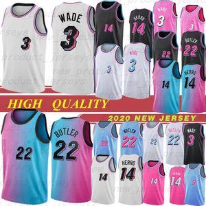 NCAA Miami Heat 3 Dwyane Wade Mens College Maglie da basket 22 Dragic Jimmy 7 Goran Dragic 21 Hassan Whiteside 14 Tyler Herro 2019 New Basketball Nuovo
