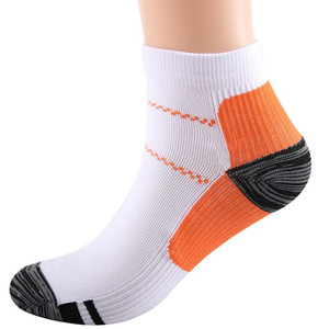 Fashion Women Men Nylon Sports Socks Breathable Patchwork Ankle Length Short Compression Socks For Cycling Skiing Soccer Running
