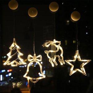 Led Noel pencere dolapları renkli ışıklar T3I51425 süslenmiş yaratıcı Noel dekoratif ışıklar sahneyi avize giyen ışıkları