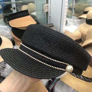 202003-yy Mode Perle Biene, die schwarze Gras Dame VISIERE Kappe -frauenfreizeit Straße Hut
