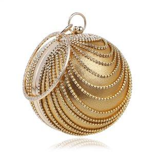 Women Party Luxurys Bags Banquet Bag Evening Handbag Round Clutch Classic For Bag Shoulder 2020 Tassels Purse Rhinestone Designer Sxalc