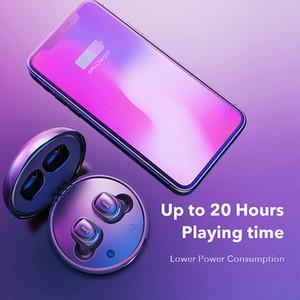 Hot X8 TWS Fones de ouvido sem fio Bluetooth Fones de ouvido de toque de controle de fone de ouvido sem fio estéreo para telefone com caixa de carregamento