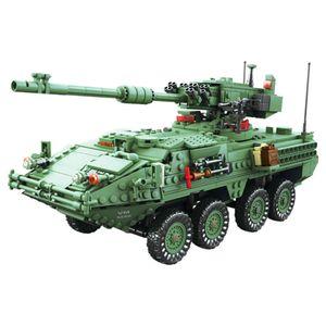KAZI 10001 Century Military MGS-M1128 TANKS Building Blocks Set Armored Vehicles DIY Bricks Toys For Children X0102