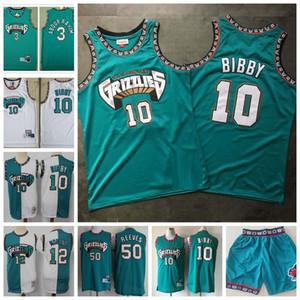 MENS Mike 10 Bibby Bryant 50 Reeves High Quality Shareef 3 Abdur-Rahim Baloncesto Jersey