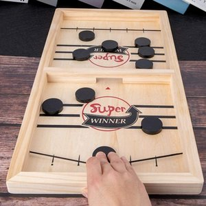 Fast Hockey Sling Puck Catapult Parent-child Interactive Game Toy Winner Board Chess Games toys For Children