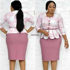 2 pezzi set Africa vestiti 2020 African Dashiki New Dashiki Fashion Suit Top e matita Gonna Party Plus Size per Lady Outfits1
