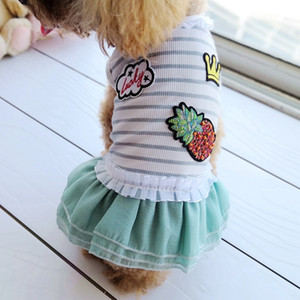 Cheap On Sale Pet Dress For Dog Little Small Pink Green Blue Puppies Animal Cat Tutu Wedding Party Skirt Clothes For Chihuahua Q1224