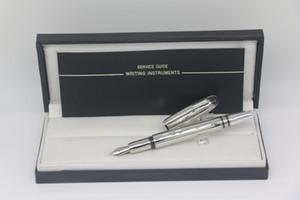 Pluma de alta calidad Classi Metal Silver Silver Fountain Pluma con número Número Suelo Office Papelería de escritura Pluma