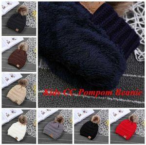 2021 CC Модные женские задействуя шапки Вязаные Fur Poms Beanie Winter Luxury Cable громоздкая Череп шапки Beanie Шляпы FY7311