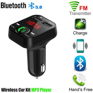 Bluetooth 5.0 FM Transmitter Car MP3 Player Dual USB 2.1A Fast Charger Car Music Player FM Modulator Audio Frequency Radio1