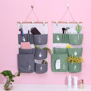 OCARDIAN Storage Bag Multifunction Multi pocket Storage Bag Cotton Linen Door After Wall Hanging Waterproof Closet Organizer new1
