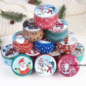 Рождество Tinplate Candy Can Merry Christmas Gift Box хранения Бисквит Jar Big Belly Can Xmas Свадебные конфеты коробки хранения