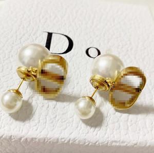D Home / Di Startseite CD Silva Perle 2020 neue einfache Art-Ohrringe weiblichen Retro Messing Material hypoallergen Ohrringe enheng